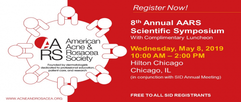 Register Now for the 8th Annual AARS Scientific Symposium May 8, 2019!