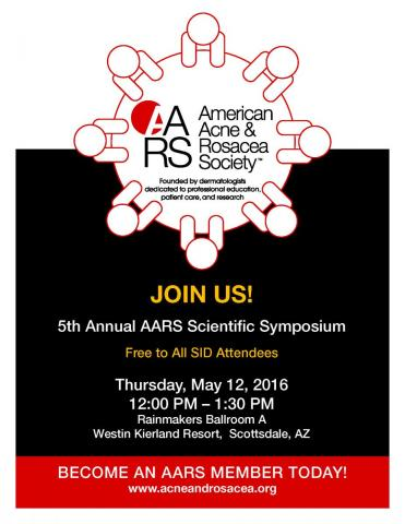 Join Us for the 5th Annual AARS Scientific Symposium! Free to All SID Attendees!